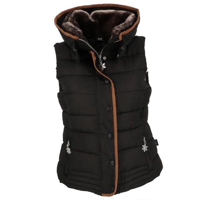 Eldera Sportswear Doudounes sans manches Mary noir sm doudoune l Noir 28112