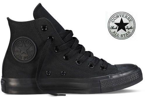 Converse All Star cuir noir monochrome haute 014530 pas