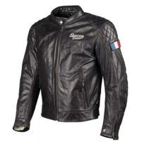 Segura - blouson moto Patch cuir homme toutes saisons noir Scb1110 2XL