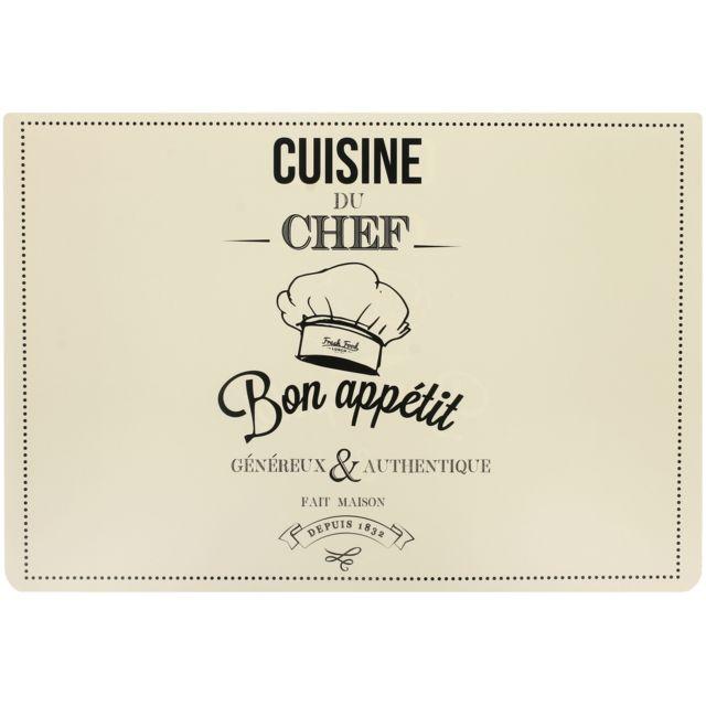 Promobo - Set de Table Double Face Cuisine Du Chef Bon Appétit Thème ...