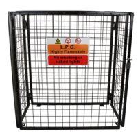 Monstershop - Cage Métallique Pliante pour Entreposage de Bouteilles de Gaz standard de 19 kg, Cage de 118cm x 92cm x 60cm