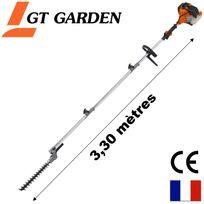 Gt Garden - Taille-haies thermique sur perche, 52 cm3, 3 Cv, longueur 3.30 mètres