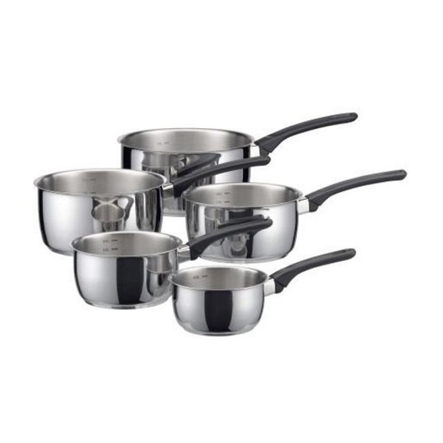 Serie De 5 Casseroles Inox Elegance tous feux dont induction