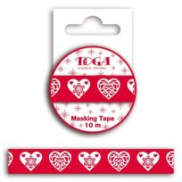 Autre - Masking tape Coeur scandinave rouge
