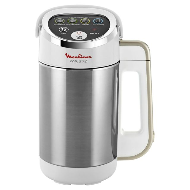 MOULINEX Cuiseur à soupe Easy Soup - LM841810 - Blanc/Argent