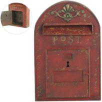 Jolipa - Boite à clefs 6 supports en forme de boite à lettres rouge