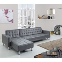 Concept Usine - Canape d'angle simili 5 places Isis Convertible Lit Canapé convertible Simili