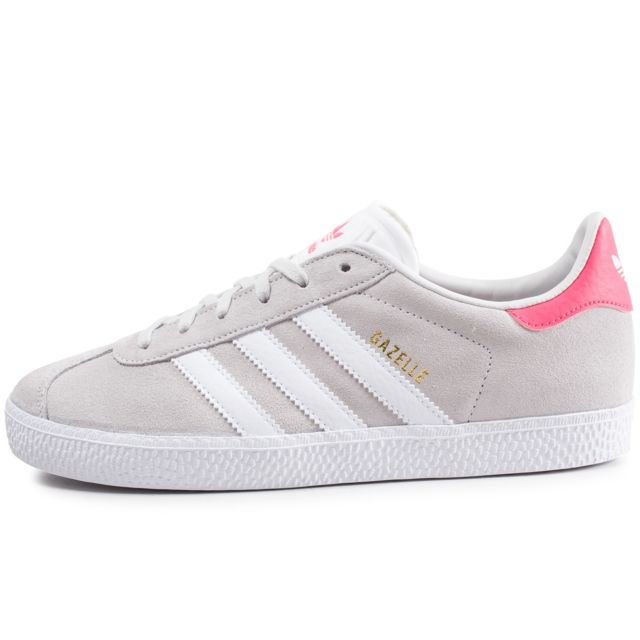 Adidas originals - Gazelle Junior Gris Clair Et Rose