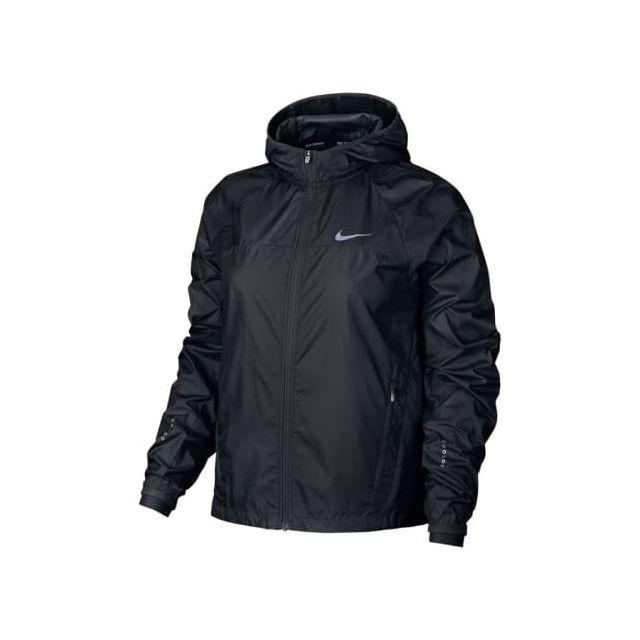 Nike - Veste Shield Racer noir femme Multicolour - pas cher Achat   Vente  Coupe-vent, vestes - RueDuCommerce 9355947491b3