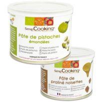 Scrapcooking - Pâte de pistache 200 g + pâte de noisette 200 g