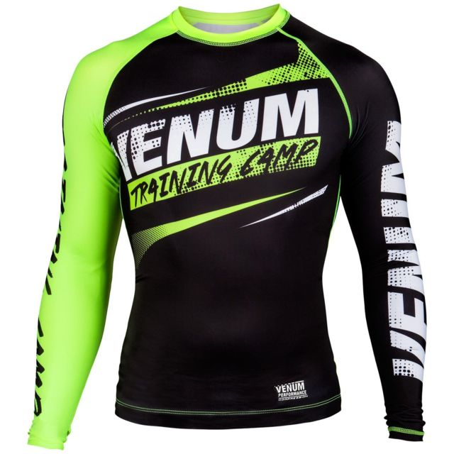 b93ae089aeec9 Venum - T-shirt de compression Venum Training Camp. Couleur   noir jaune  fluo