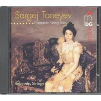 Mdg - Sergeï Ivanovich Taneiev - Oeuvre Complete pour trio a cordes Belcanto Strings Boitier cristal