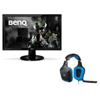 BENQ - Ecran 24'' LED 2ms Full HD VGA, DVI, HDMI, HP - GL2450HE + Casque Gamer surround Logitech G430