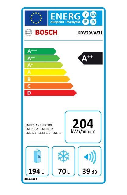 Bosch - Réfrigérateur congélateur 2 portes KDV29VW31
