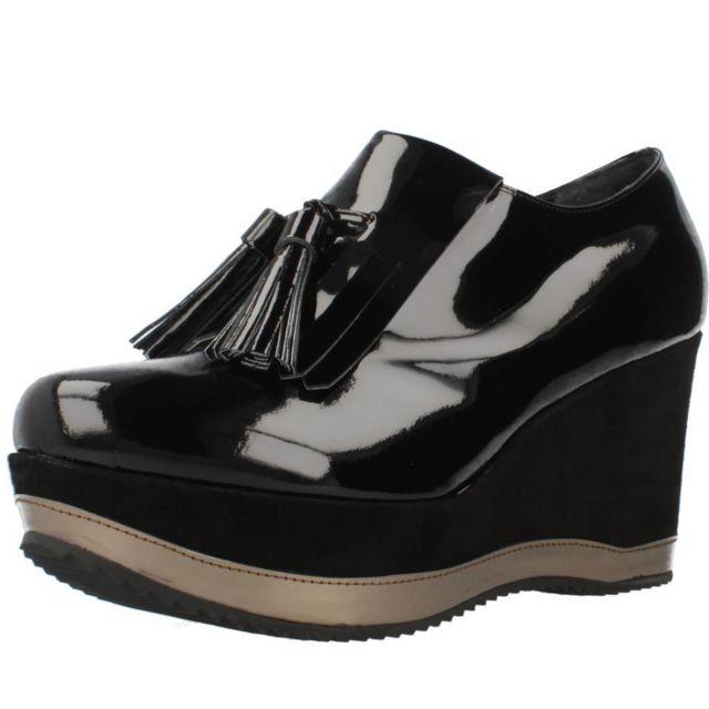 Bruglia Mocassins et chaussures bateau femme 6075, Noir