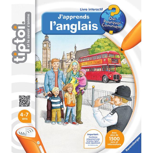 RAVENSBURGER - Tiptoi Livre J'apprends l'anglais - 00606