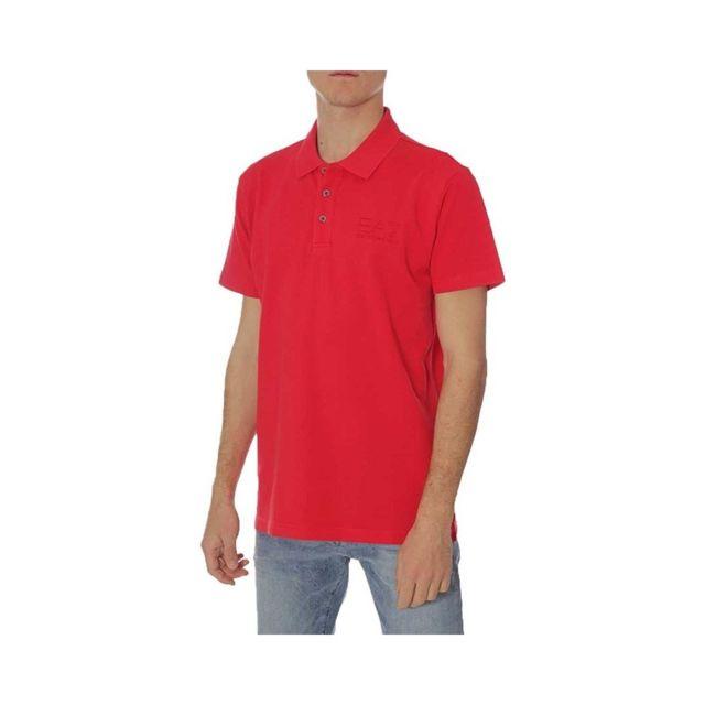 8167453494e78 Armani Ea7 - Polo Rouge Homme Emporio Armani Multicouleur Xl - pas ...