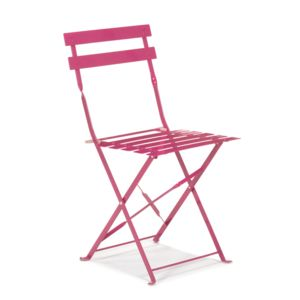 alin a pims chaise de jardin pliante rose en acier pas cher achat vente chaises de jardin. Black Bedroom Furniture Sets. Home Design Ideas