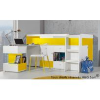 569dcac6ed6cf7 lit enfant avec bureau - Achat lit enfant avec bureau pas cher - Rue ...