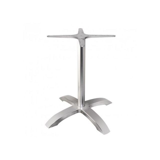 Materiel Chr Pro Pied de table base 4 branches aluminium brossé Bolero