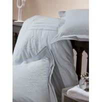 Soleil D'OCRE - Housse de couette percale brodée gris bleuté 240x260 cm Noces De Coton