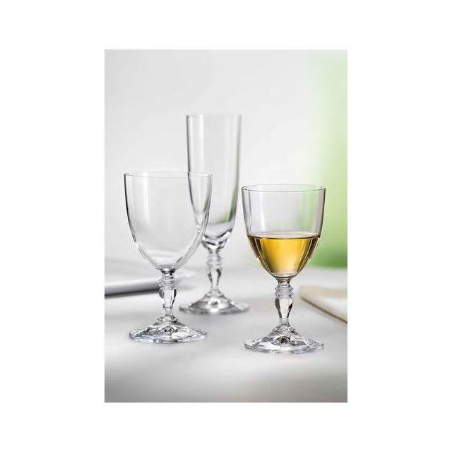 Verrerie De Boheme Lot de 6 verres à pied à eau Gloria