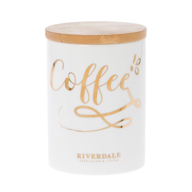 Retro - Pot pour le Café en céramique et bois 14 cm Multicolor