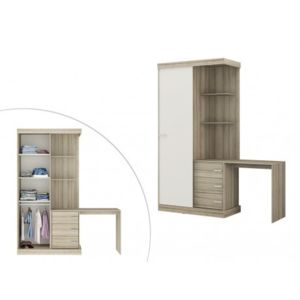 marque generique armoire bureau int gr fika l181cm ch ne et ivoire 181cm x 219cm x 52cm. Black Bedroom Furniture Sets. Home Design Ideas