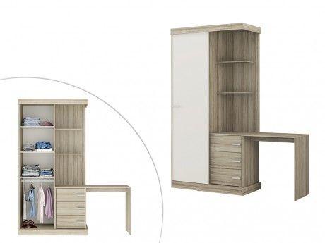 marque generique armoire bureau int gr fika l181cm ch ne et ivoire pas cher achat. Black Bedroom Furniture Sets. Home Design Ideas