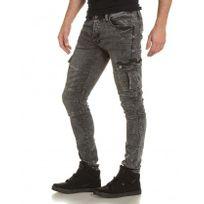 Gov Denim - Jogg jeans pant noir délavé avec poches
