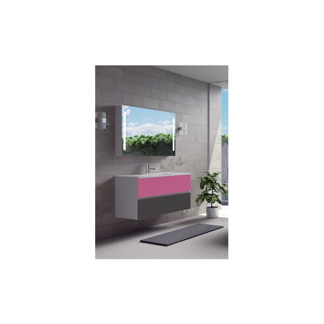 Riho Ensemble meuble & lavabo Cambio Comodo Set 12 en bois laqué brillant 100x46x H 57 cm