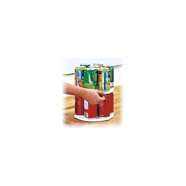 Alpexe Accessoire de rangment cannettes dans le frigo Tournant 360