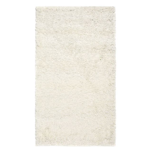 MON BEAU TAPIS - Tapis DOMINO SHAGGY 110x60cm, Écru