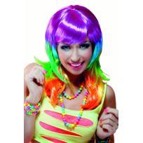 Sans - Perruque multicolore punk femme - taille - Taille Unique ... b8f15ccd39b