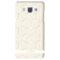 So Seven - Coque Midnight Cubic Blanche - Samsung Galaxy A3