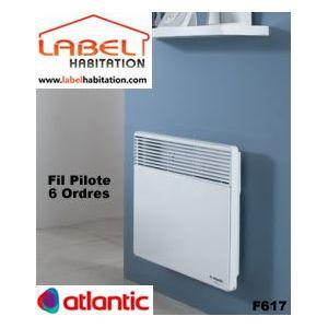 atlantic convecteur lectrique fil pilote 6 ordres f617 2000w 2 000 w pas cher achat. Black Bedroom Furniture Sets. Home Design Ideas