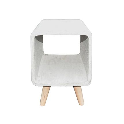 Table d'appoint cube 25cm béton