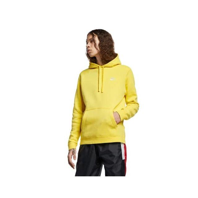 nike hoodie homme jaune