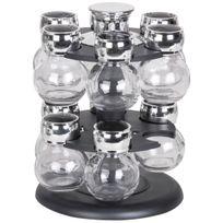 Promobo - Coffret Carrousel 12 Pots A Epices Avec Tourniquet Design Rond Luxe