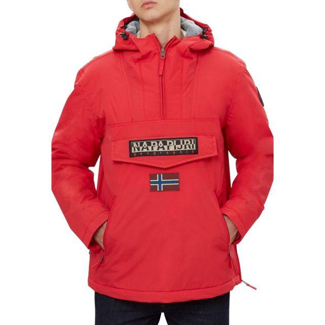 2689d87cead Napapijri - Parka rouge RAINFOREST POCKET POP - pas cher Achat   Vente  Blouson homme - RueDuCommerce