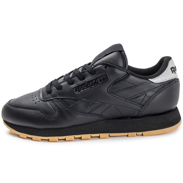 c742ee3371b43 Reebok - Classic Leather Diamond Gum Noire - pas cher Achat   Vente ...