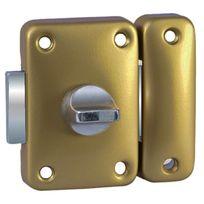 Bricard - Verrou de portage targette Verrou de sûreté à bouton sans cylindre