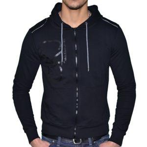 calvin klein veste legere capuche homme cmq184 noir pas cher achat vente blouson. Black Bedroom Furniture Sets. Home Design Ideas