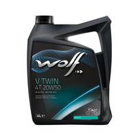 Wolf - Bidon 4 litres d'huile moto V Twin 4 Temps 20W50 8305016
