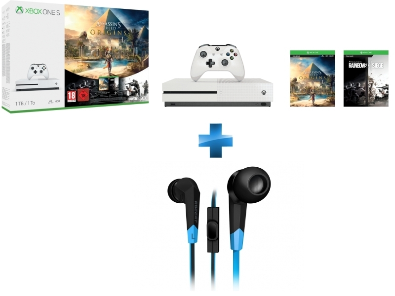 Pack Xbox One S 1To Assassin's Creed Origins + Rainbow Six: Siege + Syva