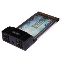 Cabling - Carte contrôleur Pcmcia 4 ports Usb 2.0 Pcm-usb2 Cartes contrôleur Pcm-usb2