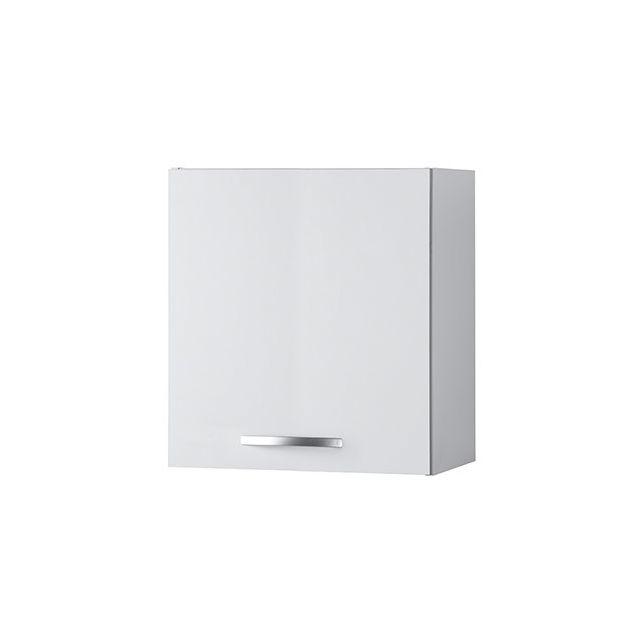 Meuble haut L60xH58xP36cm - blanc