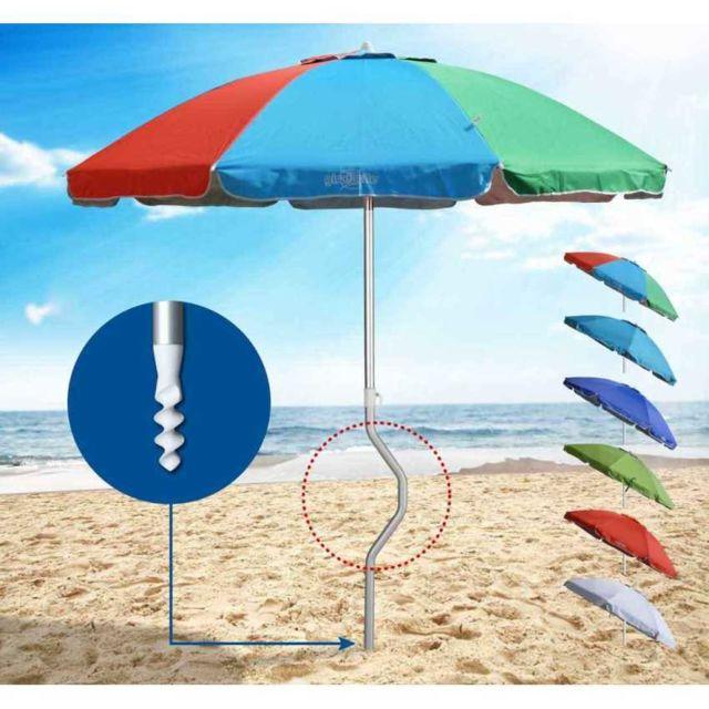 Girafacile   Parasol de plage aluminium leger visser   pas cher