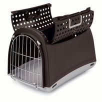 """Imac - Caisse de transport Linus Cabrio """"M"""" pour Chien et Chat - Marron"""