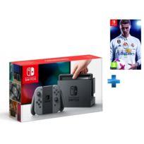 NINTENDO - Console Switch avec une paire de Joy-Con Gris + FIFA 18 - Switch
